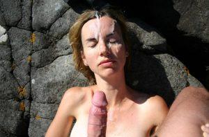 Close up blowjob cum in her mouth 103